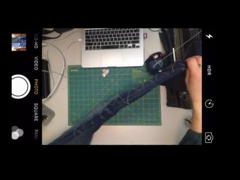 [Sashiko Live] How to make Kasane (Instead of making a knot) | Sashiko Stitching on Jeans