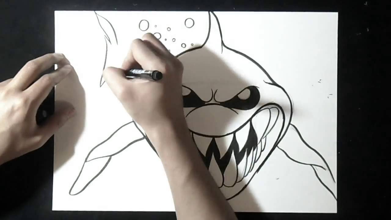 Como desenhar tubar o youtube - Requin a dessiner ...