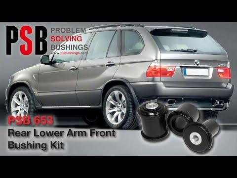 2 x BMW 5 Series E60//61 Rear Lower Arm Rear PSB Poly Polyurethane Bushing 04-10