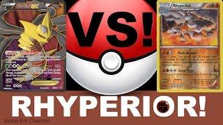 Pokemon Rhyperior VS Giratina EX! Jenna Em PTCGO