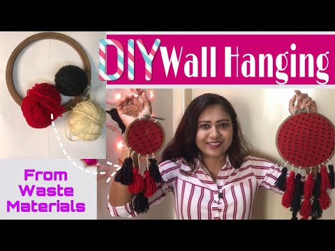 DIY Dream Catcher With Waste Materials   DIY Wall Hanging   The Brown Eyed