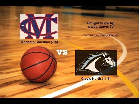 Modesto Christian vs Clovis North High School Boys Basketball 1ST HALF LIVE 1/9/2017