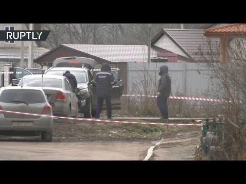 Видео с места покушения на главу Рамонского района Воронежской области Николая Фролова