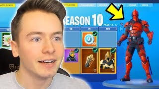 BUY FORTNITE SEASON 10 BATTLE PASS + ROBOTER ANZUG!!