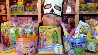 EPIC IMAGINEXT SCOOBY-DOO BLIND BAG SERIES 9, 10 & DC SUPER FRIENDS 3 HALLOWEEN UNBOXING TOY REVIEW
