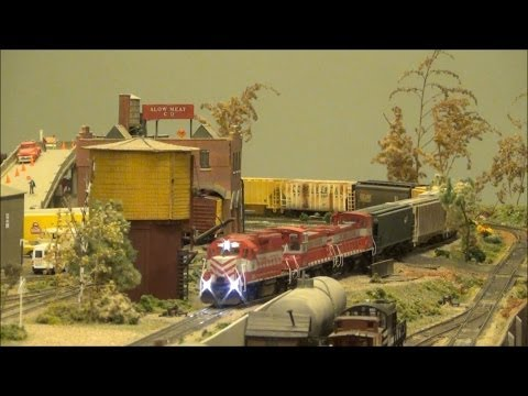 Wisconsin & Southern Engines Lead Train on the FVR