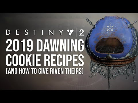 Destiny 2 Dawning 2019 Recipes , YouTube