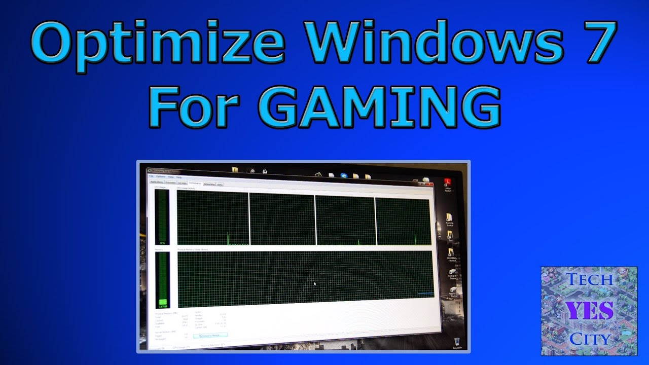 How To Optimize Windows 7 For Gaming Youtube