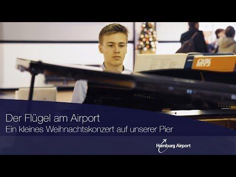 Der Airport mit dem Flügel - Hamburg Airport Weihnachtskonzert auf der Pier