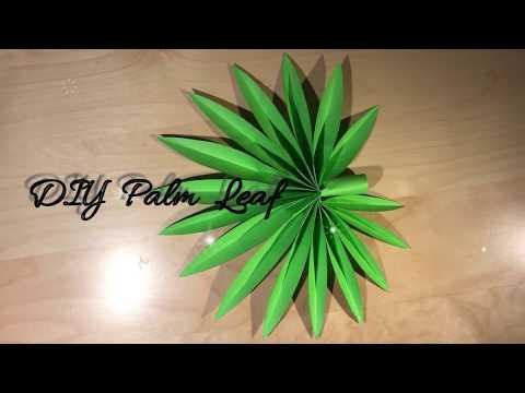 DIY Palm Leaf / Paper Craft Idea / DIY Tutorial / Gör Det Själv / Wall decoration