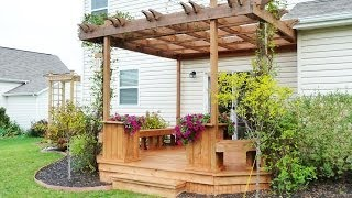 How To Stain A Deck And Pergola {simply Designing 2013}