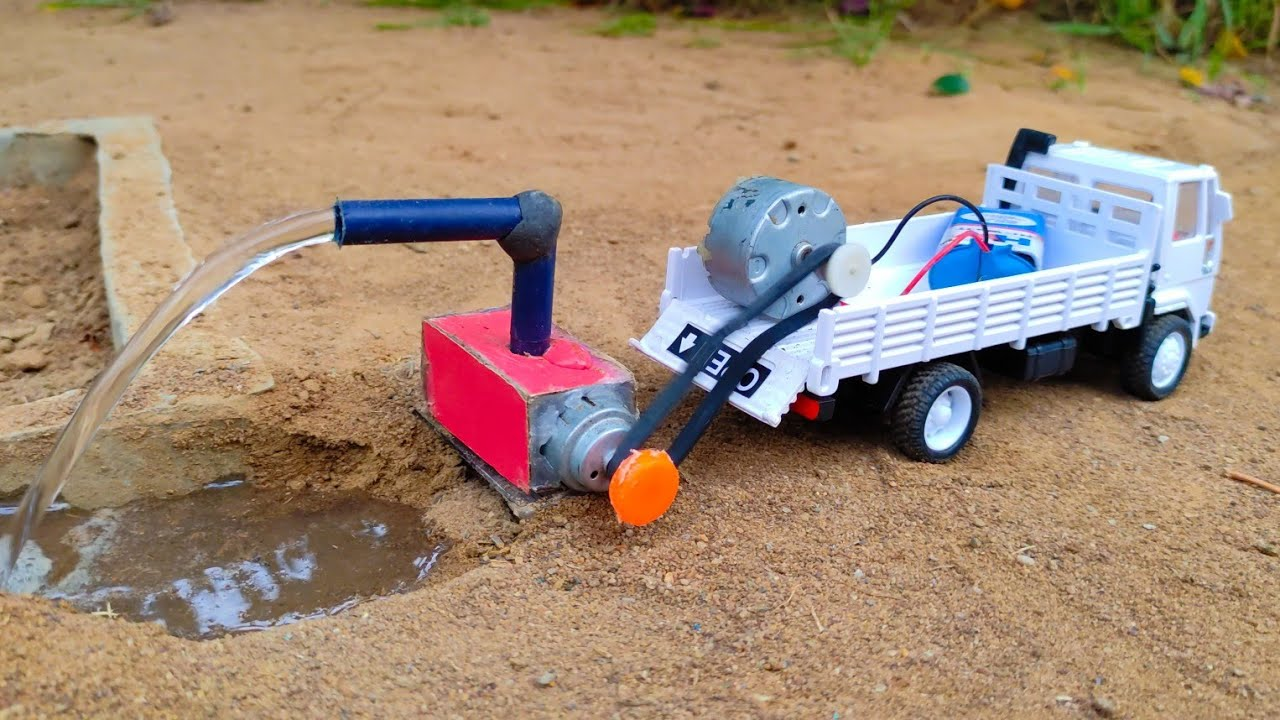 How to make water pump tractor science project @Santroyce