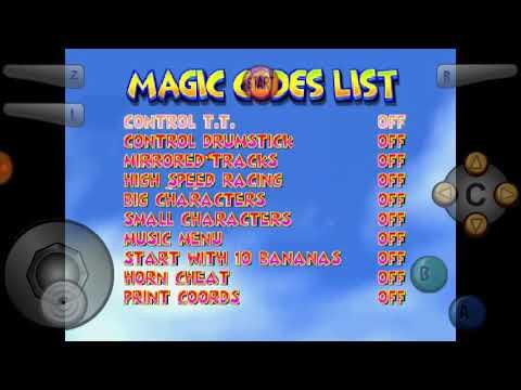 Diddy Kong Racing - Unused Magic Codes