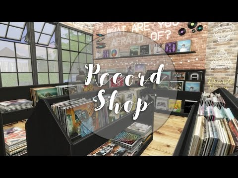 The Sims 4: Industrial Record Shop & Cafe | Speed Build