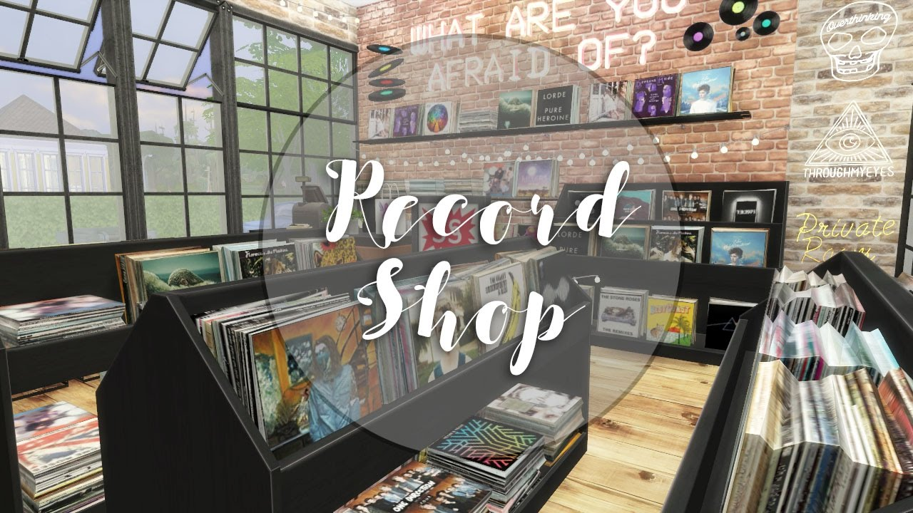The Sims 4 Industrial Record Shop Amp Cafe Speed Build