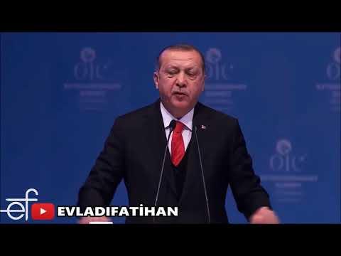 RECEP TAYYİP ERDOĞAN İSLAM ÜLKELERİNİ TOPLADI/RESTİ ÇEKTİ/TARİHİ KUDÜS KONUŞMASI