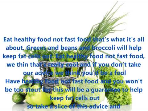 THE HEALTH FOOD SONG  WITH LYRICS