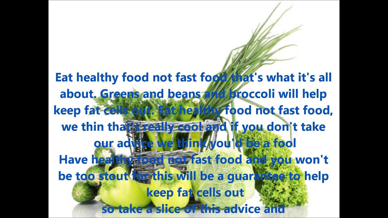 THE HEALTH FOOD SONG WITH LYRICS - YouTube