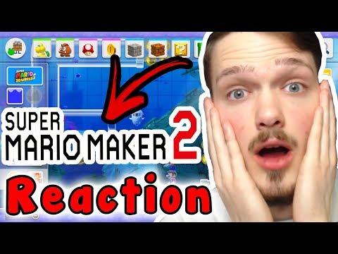 My REACTION To SUPER MARIO MAKER 2 (Nintendo Direct)