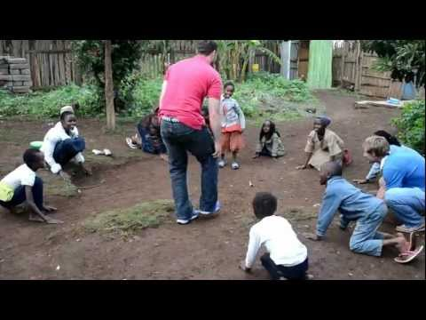 Kids Playing a Game in Kenya