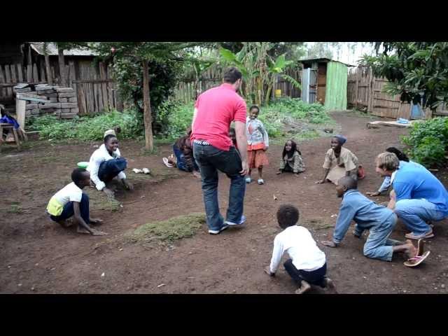 Kids Playing a Game in Kenya
