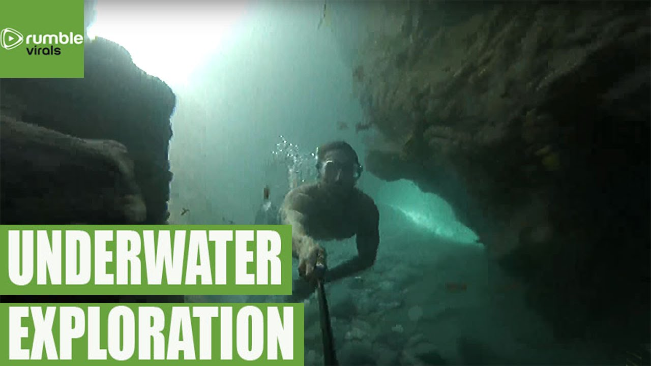Amazing Underwater Cave Diving Footage