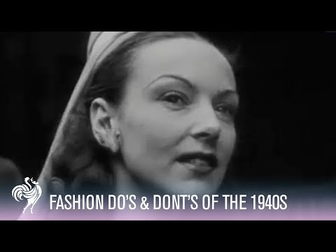 London Fashion Do's & Dont's (1946) | Vintage Fashions from YouTube · Duration:  1 minutes 45 seconds