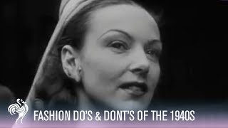 Right and Wrong in 1940s Fashion