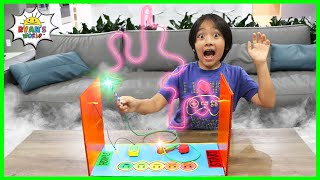 How to make DIY Buzz Wire Game Focus Challenge for Kids with Ryan!
