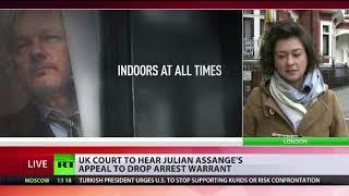 UK court will hear Julian Assange's appeal to drop arrest warrant