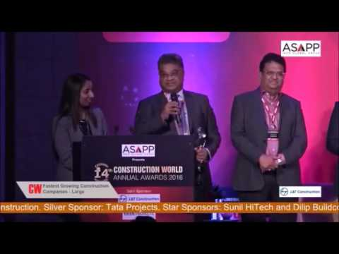 14th CW Annual Awards 2016 - Dilip Buildcon