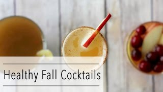 HEALTHY Fall COCKTAIL Recipes - Apple Pie Mimosa - Kombucha Sangria - Oh My Pumpkin Chai
