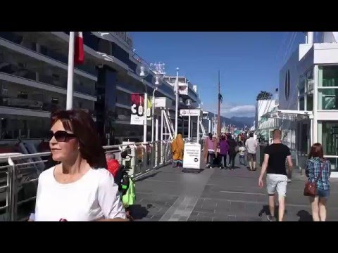 May 9 2016 - Cruise Ship in Canada Place - Vancouver, British Columbia Canada