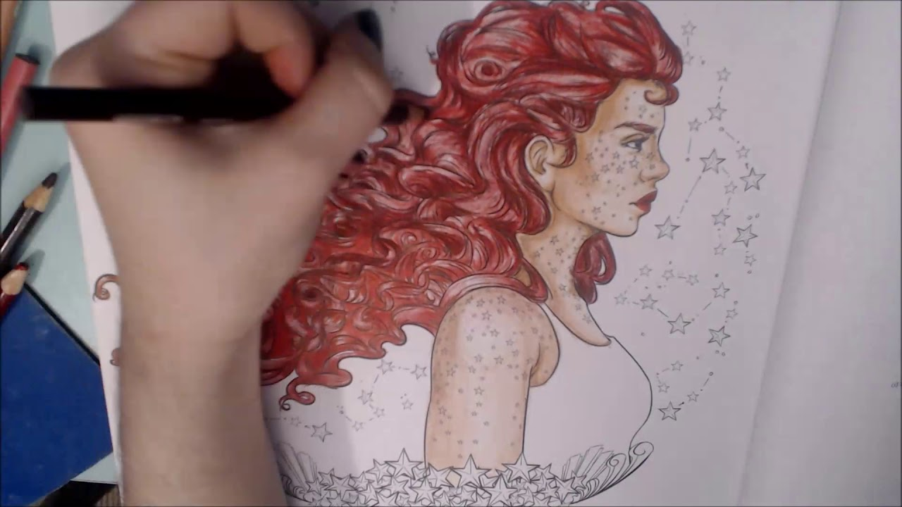Coloring Scarlet From The Lunar Chronicles Coloring Book Youtube