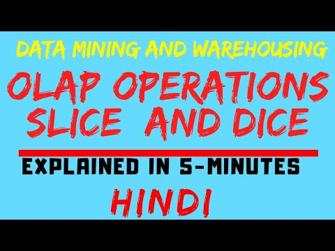 OLAP Operations : Slice And Dice Operations Explained In Hindi