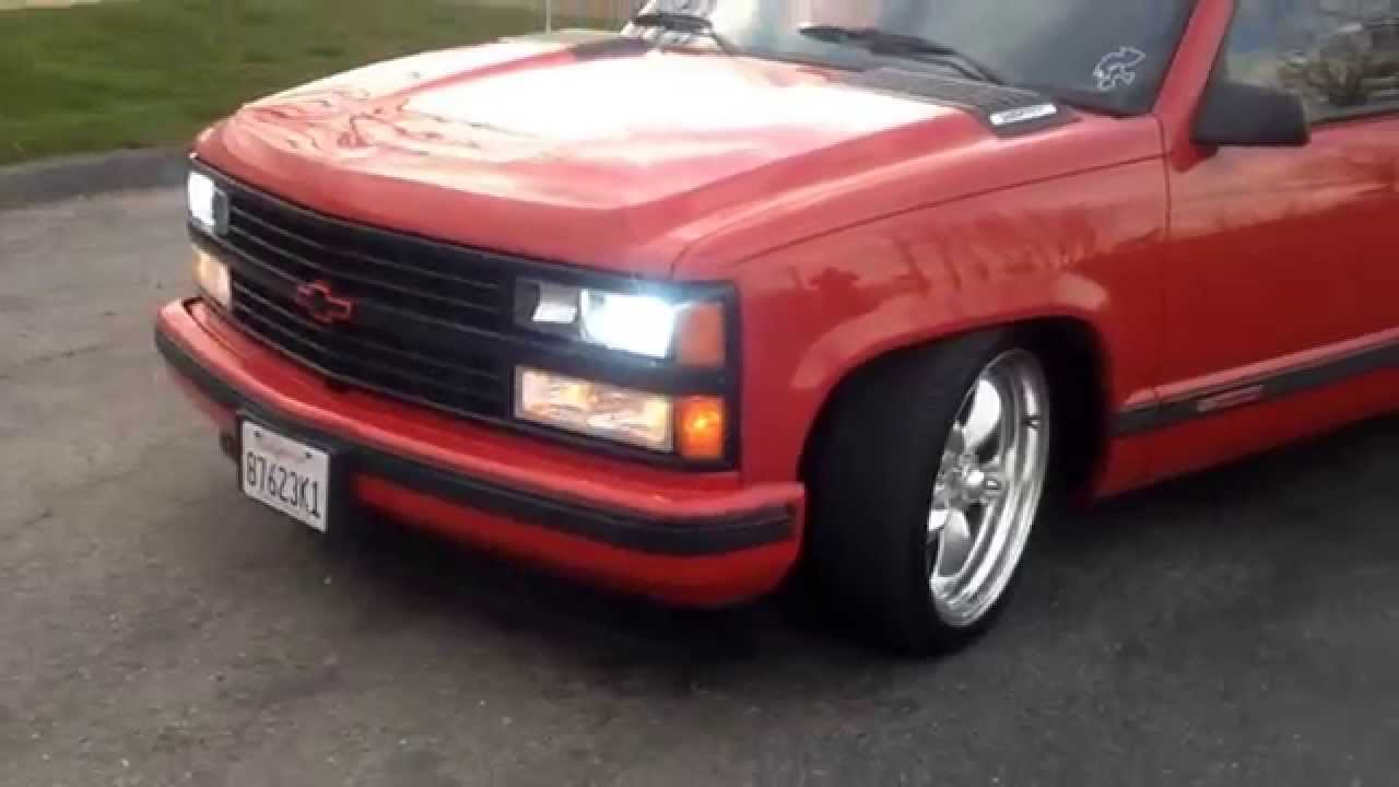 97 chevy tahoe red [ 1280 x 720 Pixel ]