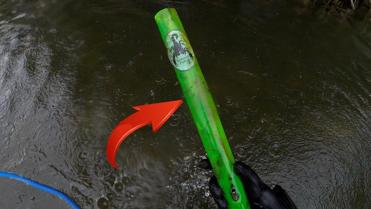 BONG GEFUNDEN bei Schatzsuche Unterwasser mit Metalldetektor - Sondeln - Tauchen - Nokta Pulse Dive