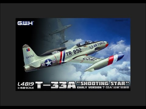 "GWH 1/48 T-33A ""Shooting Star"" Scale Model Review"