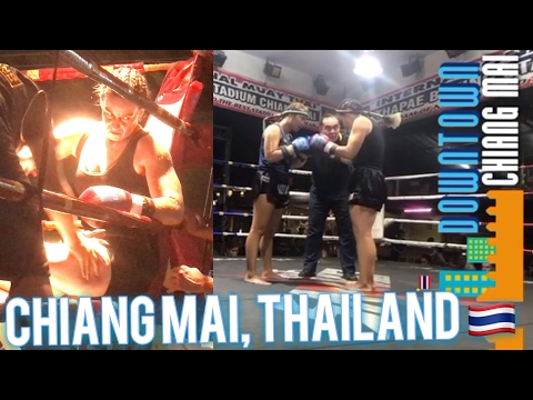 The Muay Thai Experience 🇹🇭🥊Thaphae Boxing Stadium, Chiang Mai Thailand