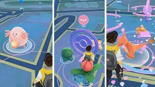 One Hour Of Lure Spawns! Tons of Epic Spawns During Pokemon GO Holiday Event!