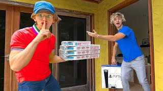Undercover In Disguise to Recover Stolen Playstation PS5!! (Best Friend Caught as Cop)