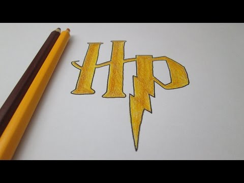 How to draw the logo of Harry Potter