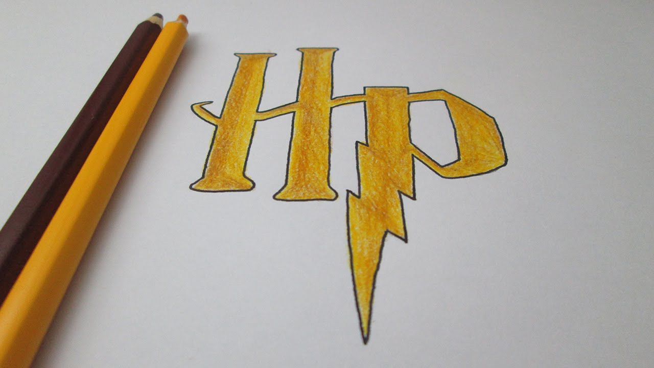 How To Draw The Logo Of Harry Potter   YouTube