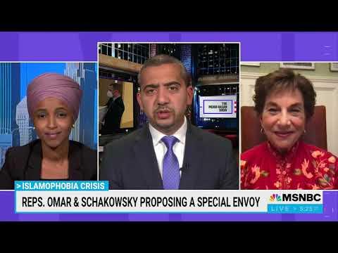 Video: Reps. Ilhan Omar, Jan Schakowsky on MSNBC's Mehdi Hasan Show to Call for Islamophobia Envoy