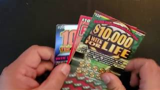 WIN!! $50 SESSION NEW YORK LOTTERY INSTANT WIN SCRATCH OFF TICKETS. 100X. RED HOT 600. 10000 LIFE