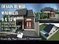 DESAIN RUMAH MINIMALIS 6X12 M 1 lantai