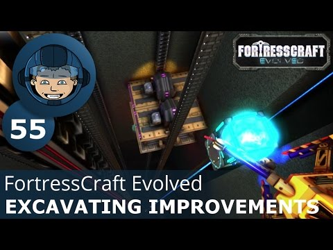 EXCAVATING IMPROVEMENTS - FortressCraft Evolved: Ep. #55 - Gameplay & Walkthrough