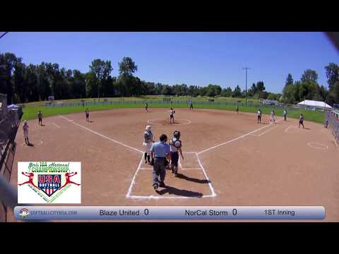 NorCal Storm vs. Blaze United - 2017 18A Fastpitch National