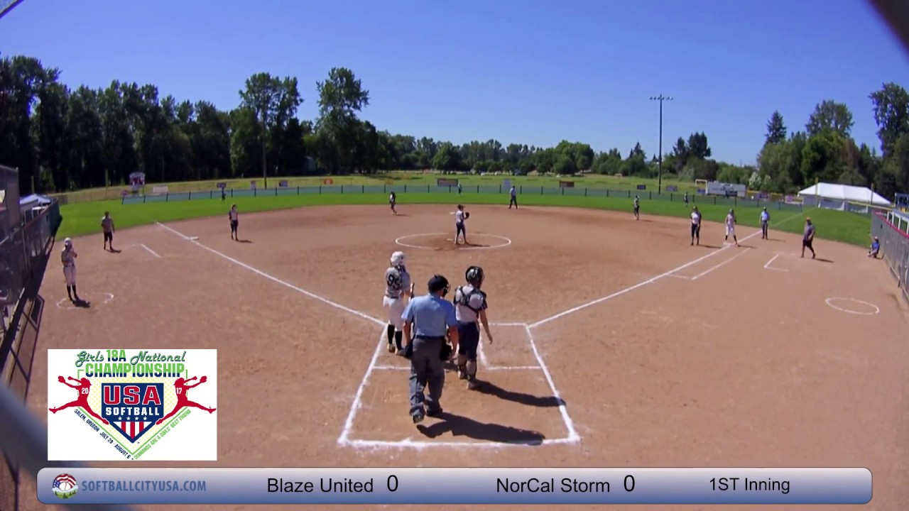 NorCal Storm vs  Blaze United - 2017 18A Fastpitch National