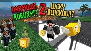 Darmowe robux z lucky blocków !? roblox [lucky block battleground]